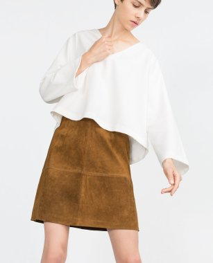 Suede Effect Skirt ($70)